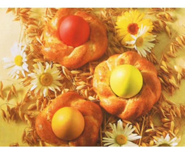 """Рецепт                  """"Гнездышки"""" с пасхальными яйцами"""