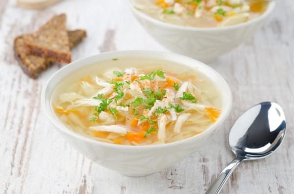 Рецепт                  Куриный суп с лапшой и овощами
