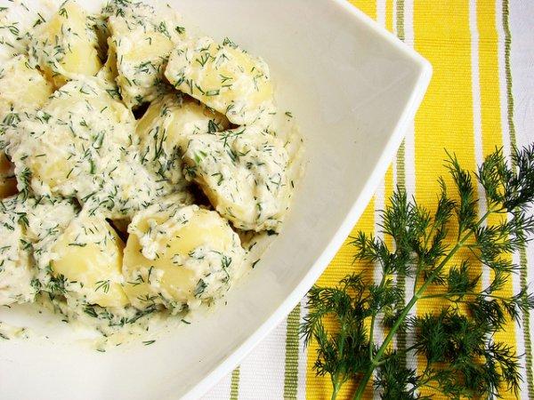 Рецепт                  Картофель с лимонным соусом