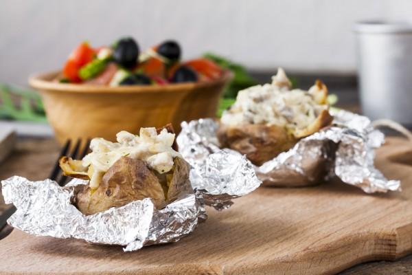 Рецепт                  Крошка-картошка: Рецепт с грибами и сыром
