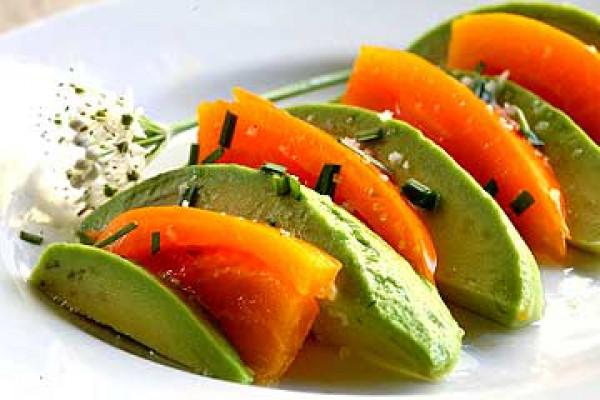 Рецепт                  Салат из авокадо и помидоров
