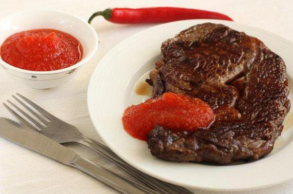 Рецепт                  Соус из острого перца к мясу