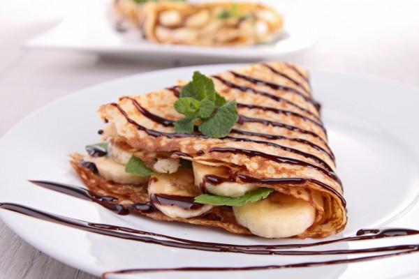 Рецепт                  Масленица 2015: Блины с бананами и шоколадом