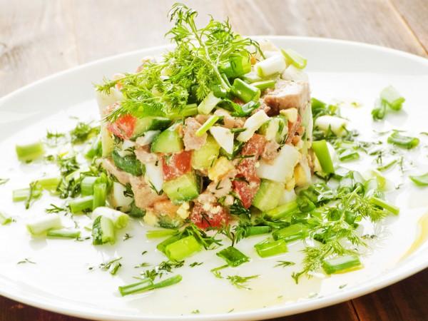 Рецепт                  Новогодние рецепты: Салат из печени трески с авокадо