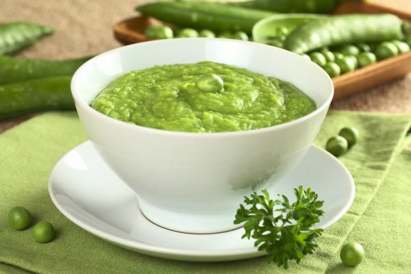 Рецепт                  Весенний крем-суп из зеленого горошка