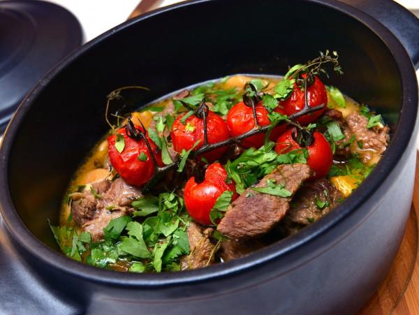 Рецепт                  Баранина с овощами по-гречески