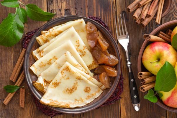 Рецепт                  Французские блинчики с яблоками