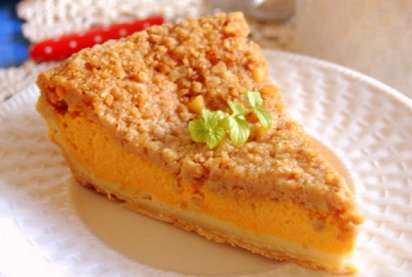 Рецепт                  Тыквенный пирог с ореховой крошкой